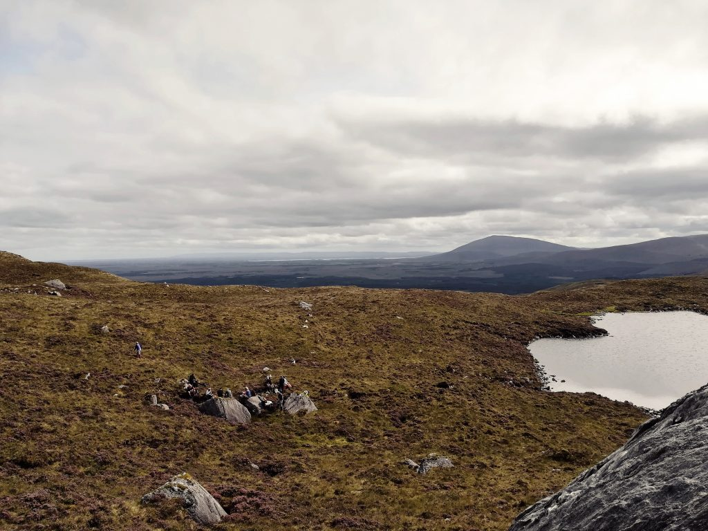Hills and Hikers in distance, Wild Nephin