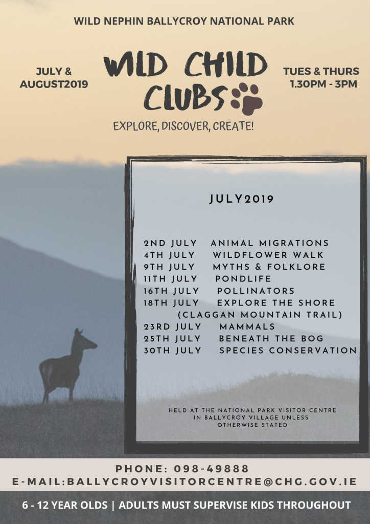 Wild Child Clubs July and August 2019