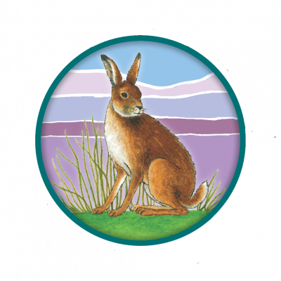 Badge with Hare